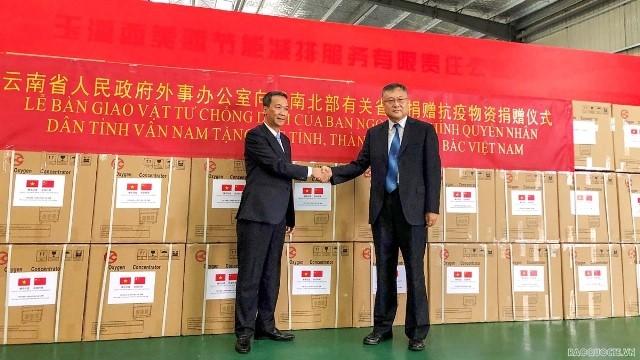 China donates COVID-19 medical supplies to Vietnam