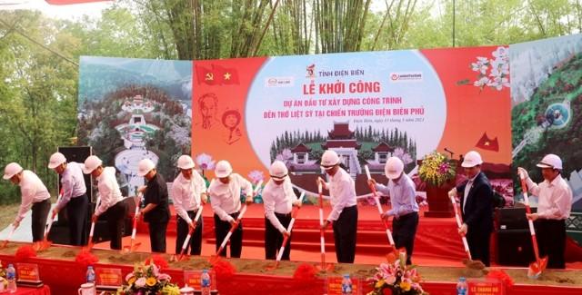 VPUB - Điện Biên khởi công xây dựng công trình Đền thờ liệt sĩ tại Chiến trường Điện Biên Phủ