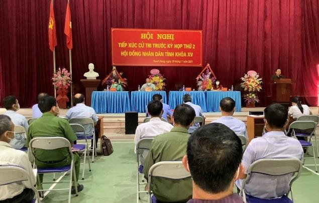 VPUB - Đồng chí Mùa A Sơn, Phó Bí thư Thường trực Tỉnh ủy tiếp xúc cử tri tại xã Thanh Hưng, huyện Điện Biên