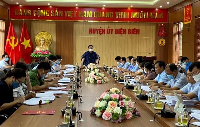 VPUB - Đồng chí Mùa A Sơn, Phó Bí thư Thường trực Tỉnh ủy làm việc với Huyện ủy Điện Biên