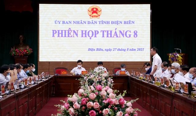 VPUB - Tham gia ý kiến vào dự thảo Nghị quyết phát triển hệ thống kết cấu hạ tầng, gắn với phát triển đô thị theo hướng hiện đại tỉnh Điện Biên