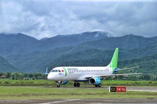 VPUB - Bamboo Airways, đã hạ cánh thành công tại sân bay Điện Biên, hoàn tất chặng bay thẳng Hà Nội – Điện Biên
