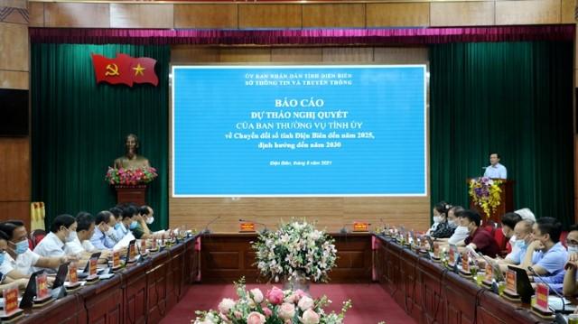 VPUB - Thảo luận góp ý kiến vào dự thảo Nghị quyết của Ban Thường vụ Tỉnh ủy về chuyển đổi số tỉnh Điện Biên đến năm 2025, định hướng đến năm 2030
