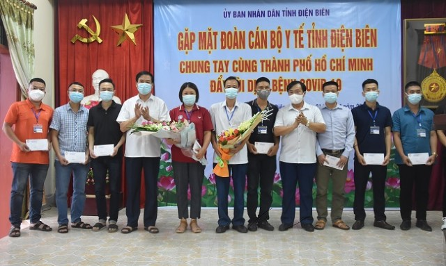 VPUB – 31 cán bộ y tế tỉnh Điện Biên lên đường hỗ trợ thành phố Hồ Chí Minh chống dịch Covid-19