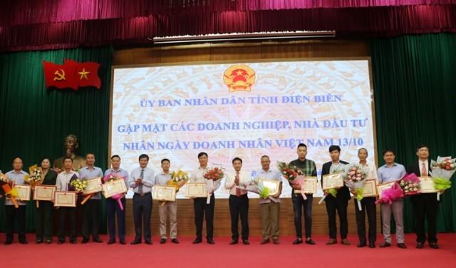 VPUB - UBND tỉnh Điện Biên gặp mặt Doanh nghiệp, Nhà đầu tư nhân ngày doanh nhân Việt Nam 13/10