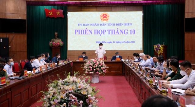 VPUB - Phiên họp tháng 10/2021 UBND tỉnh Điện Biên: Thảo luận, hoàn thiện 5 tờ trình